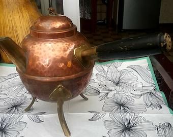 Vintage  copper brass kettle/Tea coffee kettle/Home decor