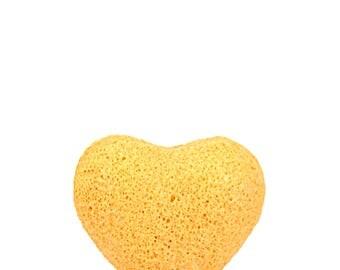 Tumeric Konjac Sponge Heart