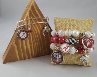 Team bracelet stacks- Bama