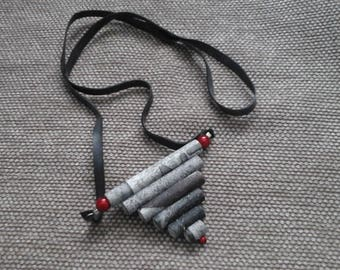 Necklace inner tube and paper beads