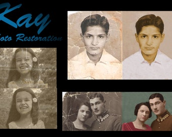 Photo Restoration, Old photos made New, Fast