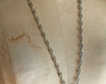 Vintage Antique Assemblage  Silver Stanhope Binocular Pendant Charm Necklace Ornate Chain Long Adjustable by Cobwebpalace