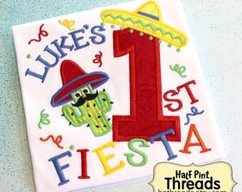 Cactus First Fiesta Birthday Shirt or Bodysuit Personalized First Fiesta Birthday Shirt Mexican First Birthday Spanish Fiesta First Birthday