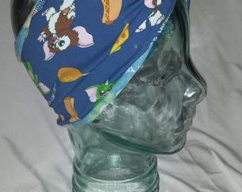 Gremlins 80s Custom Print Cotton/Lycra Stretch Knit Scrunchy Wide Headband