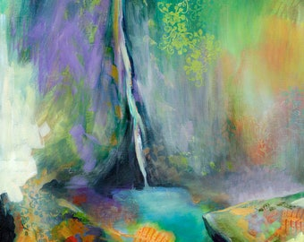 Waterfall Abstract - Cascadia State Park I - Fine Art Print by Jenlo