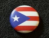 "1"" Puerto Rico flag button, territory, pin, badge, pinback"