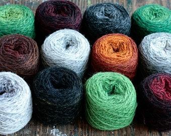 Pure wool knitting yarn - 12 x 24 g