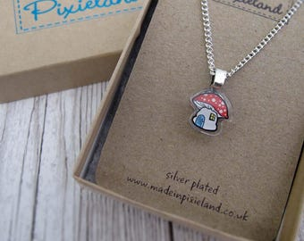 Toadstool Necklace and gift box
