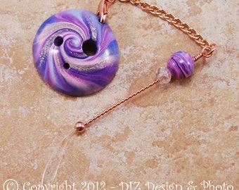 Purple & Blue Swirl Spinner's DIZ and Threader Set - No 7 - CONCAVE