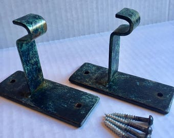 Curtain Rod Drapery Hardware - Forged Mounting Bracket Set of 2 - READY-TO-SHIP - FMB2CP