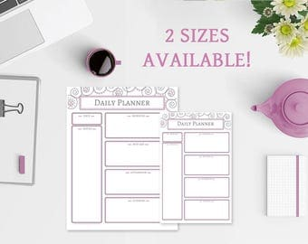 Daily Planner Notepad - 2 Sizes Available - Daily Planner - Daily Planner Notebook - Swirls & Dots Notepad - Daily Planner - Planner Notepad