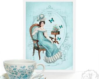 Jane Austen, Pride and Prejudice, Emma, Regency, literary card, for birthday, all occasion card