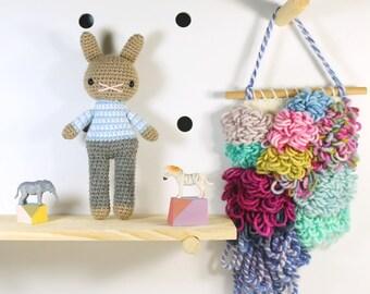 chip .. amigurumi animal doll, boy toys, crochet animal, crochet toy rabbit, plush doll, bunny, stuffed plush toy, kawaii plushie rabbit