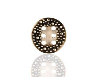 Porterness Studio Porterness6 Double Sided Bronze Button For Knitters