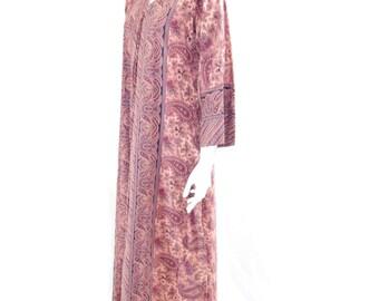 Vintage IRCA 2000 Dress// Floral Maxi Dress // Boho Maxi Dress// Paisley Folk Dress// 131