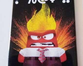 Inside Out Anger Magnet Disnet Pixar emotions angry hot head
