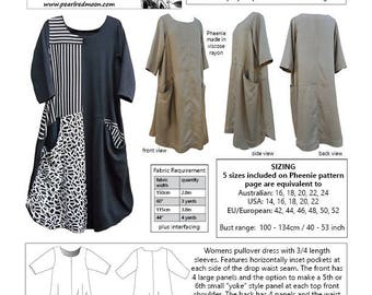 Pheenie Dress, PDF sewing pattern