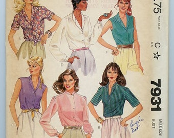 McCall's Blouse pattern 7931
