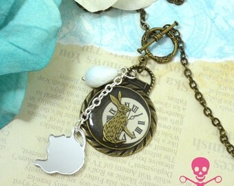 IMPORTANT DATE - Resin Steampunk Watch Charm Necklace - Antique Bronze