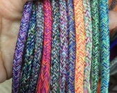 rope for macrame, 4mm round mixed colour cord, sold by the yard, cord for macrame, polyester rope, coloured rope / string / macrame cord