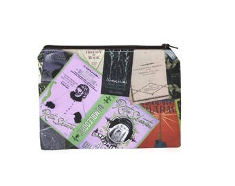 CHOOSE SIZE Magical Library Pouch / Hogwarts Library Camera Bag / Harry Potter Hermione Gryffindor Make Up Bag