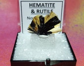 Sale HEMATITE And RUTILE Mineral Specimen In Perky Box From Brazil