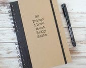 Valentine's Gift Personalized Journal Gift for Girlfriend Personalized Notebook 99 Things