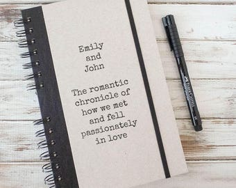 Love Journal Couples Gift Valentine's Gift Personalized Wedding Gift Notebook Engagement Gift Gift for Fiance Anniversary Gift Love LC5