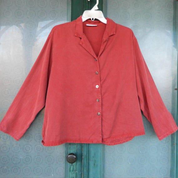 Bryn Walker Tencel Shirt Jacket -L- Russet