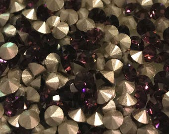 36 pp26 Amethyst Swarovski Article 1028 Xilion 3.4mm Chatons