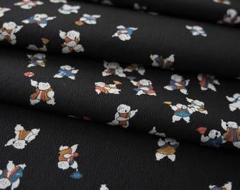 Japanese Shinto Babies Fan Dancing - Kimono Fabric