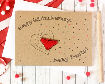Anniversary Card. Happy Anniversary Card. Sexy Pants. Happy Anniversary Sexy Pants. Anniversary Cards. 1st Anniversary Card. Pants. Y-Fronts