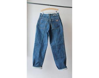 1980s Giorgio Armani High Waist Straight Leg Jeans