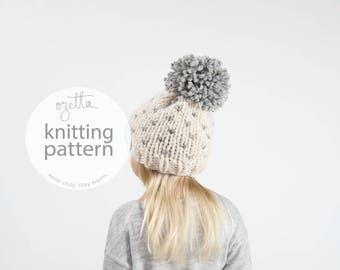 Knitting Pattern / Children's Fair Isle Knit Hat With Pom Pom / THE LITTLE ALPINE Hat