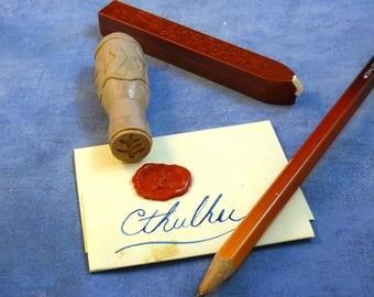 Elder Sign Wax Seal - Cthulhu Mythos Desk Accessory