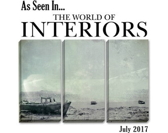 As Seen In The World Of Interiors, Boat, Canvas Art, Nautical, Black