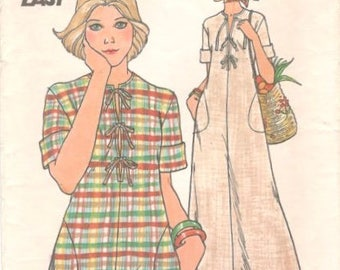 Butterick 4201 1970s Misses CAFTAN  and Top Pattern Fast and Easy  Womens Vintage Sewing Pattern Size Medium 12 Bust 34  UNCUT