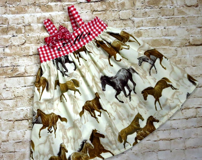 Barnyard Birthday - Cowgirl Dress - Cowgirl Birthday - Baby Western Dress - Baby Cowgirl Dress - Personalized Toddler Dress - 6 mo to 8 yrs
