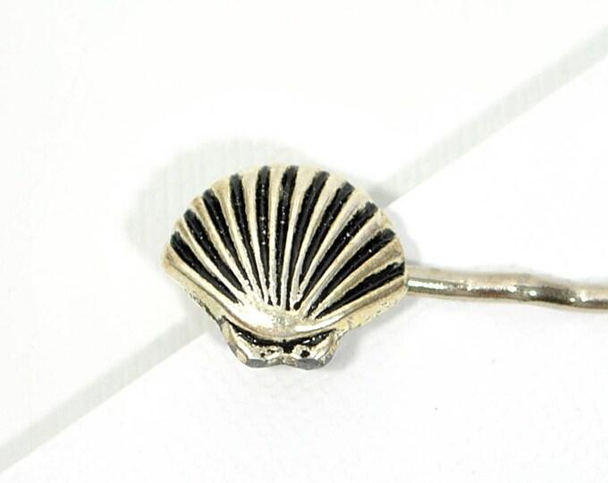 Silver Seashell Bobby Pin Beach Hair Pin Shell Hair Clip Beach Hair Accessory