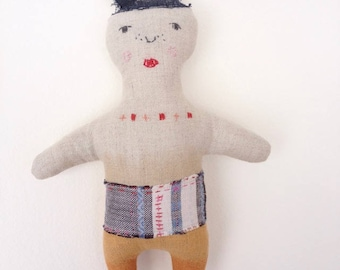 Cloth doll,linen doll,fabric doll,handmade doll,stuffed toy doll,ecofriendly doll,nursery toy