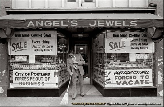 Can't Fight City Hall, ANGEL'S JEWELS CLOSES, Clyde Keller photo