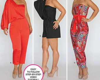 PLUS SIZE JUMPSUIT Sewing Pattern ~ Mimi G Style Long & Short Summer Jumpsuit 5 Sizes