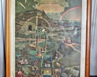 """ViNTaGe FRaMeD MaSoNiC MeMBeRSHiP PoSTeR DaTeD 1962 with SiGNaTuReS 29"""" x 23"""""""
