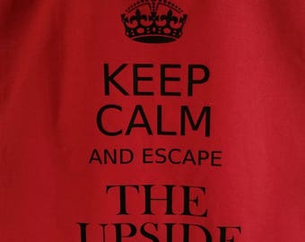 Keep Calm and Escape the Upside Down Stranger Things Tote Bag