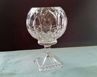 Lead Crystal Footed Rose Bowl