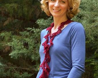 Crochet Scarf Pattern Aleteo crochet pattern summer scarf spring scarf fingering yarn dk yarn sport lace yarn INSTANT pdf DOWNLOAD pattern