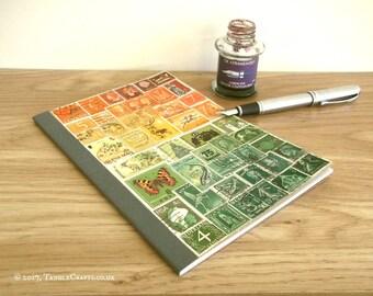 Sunset Travel Journal - Orange Green A5 Travelers Notebook Insert