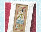 Lizzie Kate Snippet S94 S94E Snowman '10 Cross Stitch Pattern with Embellishments