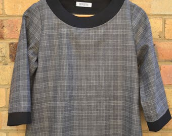 Wool check Coco top