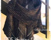 PDF Knitting Pattern Lallybroch Shawl Outlander Inspired Triangle Ruffle Shawl
